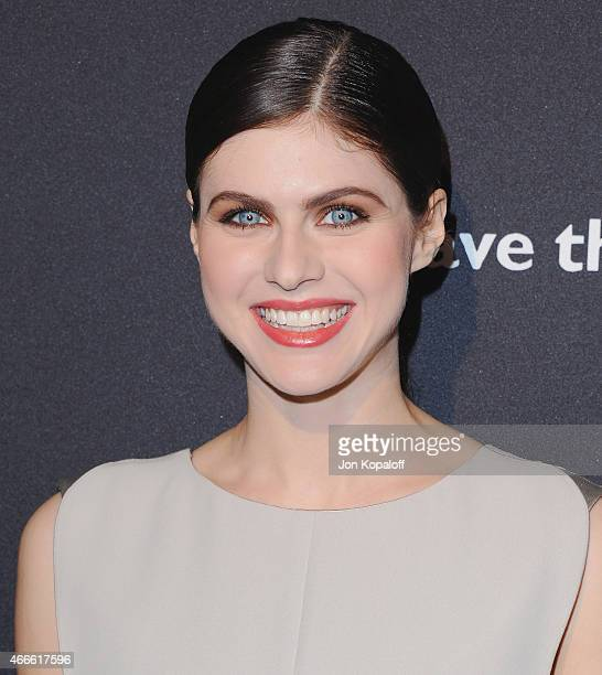 Actress Alexandra Daddario arrives at BVLGARI And Save The Children STOP THINK GIVE PreOscar Event at Spago on February 17 2015 in Beverly Hills...