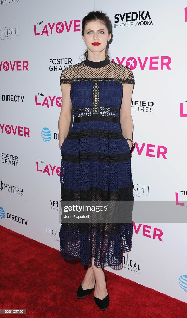 Actress Alexandra Daddario arrives at Los Angeles Premiere 'The Layover' at ArcLight Hollywood on August 23, 2017 in Hollywood, California.