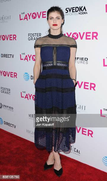 Actress Alexandra Daddario arrives at Los Angeles Premiere 'The Layover' at ArcLight Hollywood on August 23 2017 in Hollywood California