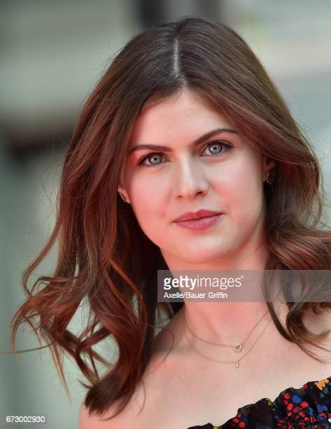 Actress Alexandra Daddario arrives at the 'Baywatch' SlowMo Marathon at Microsoft Square on April 22 2017 in Los Angeles California