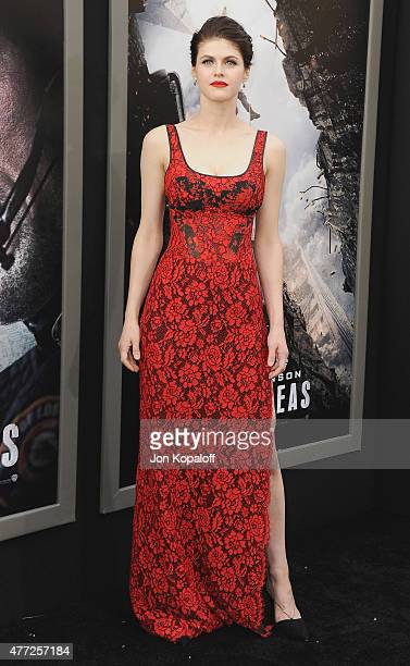 Actress Alexandra Daddario arrives at the Premiere Of Warner Bros Pictures' San Andreas at TCL Chinese Theatre on May 26 2015 in Hollywood California