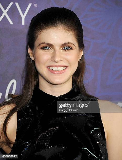 Actress Alexandra Daddario arrives at the Variety And Women In Film Annual PreEmmy Celebration at Gracias Madre on August 23 2014 in West Hollywood...
