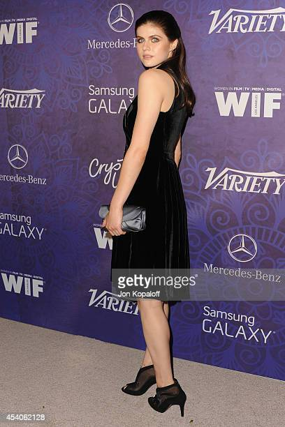 Actress Alexandra Daddario arrives at Variety And Women In Film Annual PreEmmy Celebration at Gracias Madre on August 23 2014 in West Hollywood...