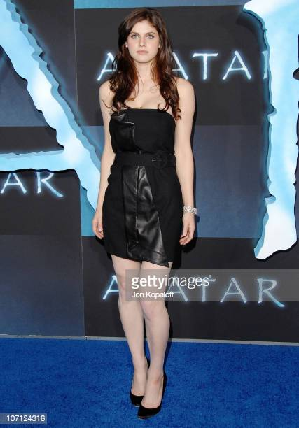 Actress Alexandra Daddario arrives to the Los Angeles Premiere 'Avatar' at Grauman's Chinese Theatre on December 16 2009 in Hollywood California