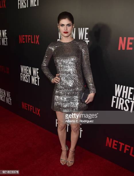 Actress Alexandra Daddario attends a special screening of Netflix's When We First Met at ArcLight Hollywood on February 20 2018 in Hollywood...