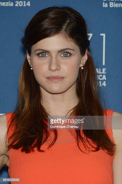 Actress Alexandra Daddario attends 'Burying The Ex' Photocall during the 71st Venice Film Festival at Palazzo Del Cinema on September 4 2014 in...