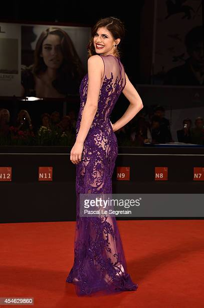 Actress Alexandra Daddario attends 'Burying The Ex' Premiere during the 71st Venice Film Festival on September 4 2014 in Venice Italy