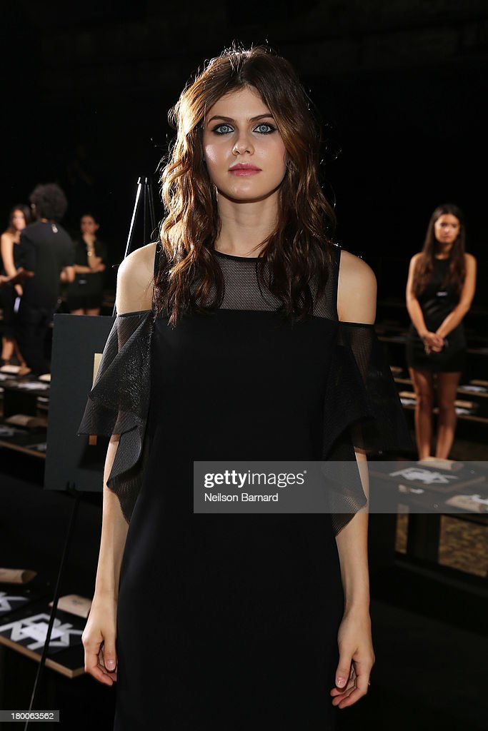 Actress Alexandra Daddario attends DKNY Women's fashion show during Mercedes-Benz Fashion Week Spring 2014 on September 8, 2013 in New York City.