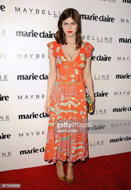 Actress Alexandra Daddario attends Marie Claire's Fresh Faces event at Doheny Room on April 21 2017 in West Hollywood California