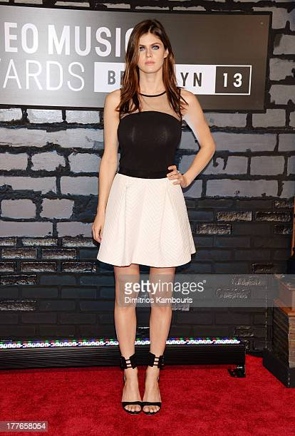 Actress Alexandra Daddario attends the 2013 MTV Video Music Awards at the Barclays Center on August 25 2013 in the Brooklyn borough of New York City