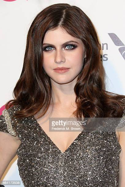 Actress Alexandra Daddario attends the 23rd Annual Elton John AIDS Foundation's Oscar Viewing Party on February 22 2015 in West Hollywood California