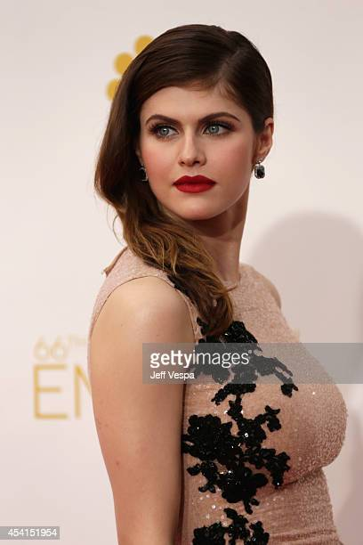 Actress Alexandra Daddario attends the 66th Annual Primetime Emmy Awards held at Nokia Theatre L.A. Live on August 25, 2014 in Los Angeles,...