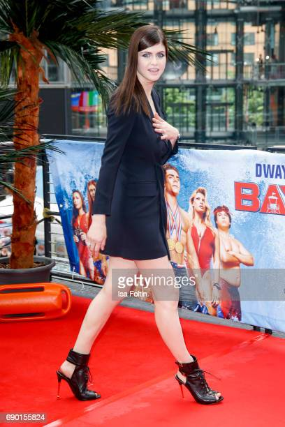 US actress Alexandra Daddario attends the 'Baywatch' Photo Call in Berlin on May 30 2017 in Berlin Germany