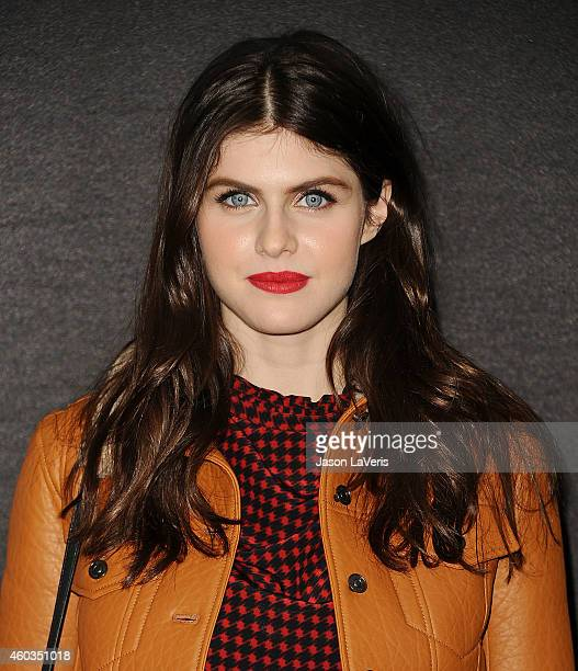 Actress Alexandra Daddario attends the Coach Backstage Rodeo Drive store opening celebration at Coach Boutique on December 11 2014 in Beverly Hills...