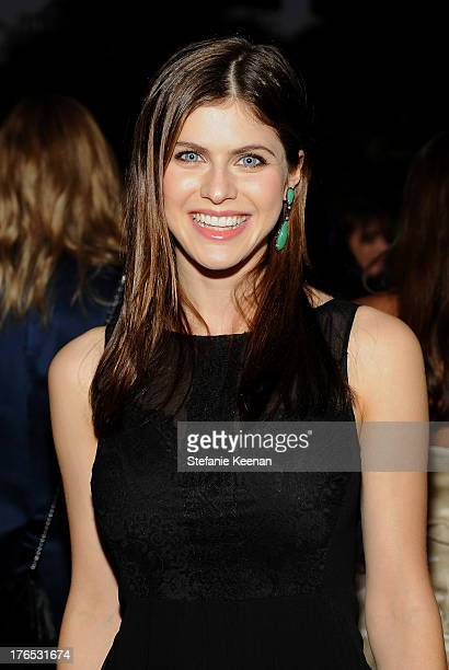 Actress Alexandra Daddario attends the InStyle Summer Soiree held Poolside at the Mondrian hotel on August 14 2013 in West Hollywood California