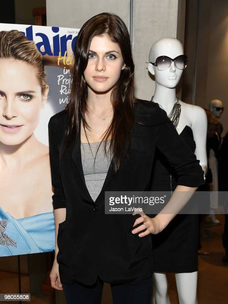 Actress Alexandra Daddario attends the Marie Claire Italian fashion and style event at Madison Melrose on March 25 2010 in Los Angeles California