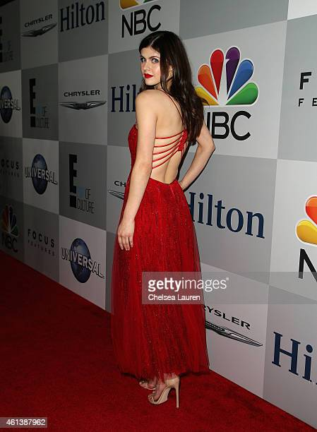 Actress Alexandra Daddario attends the NBCUniversal 2015 Golden Globe Awards Party sponsored by Chrysler at The Beverly Hilton Hotel on January 11...