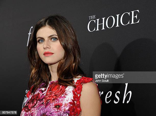 Actress Alexandra Daddario attends the premiere of Lionsgate's 'The Choice' at ArcLight Cinemas on February 1 2016 in Hollywood California