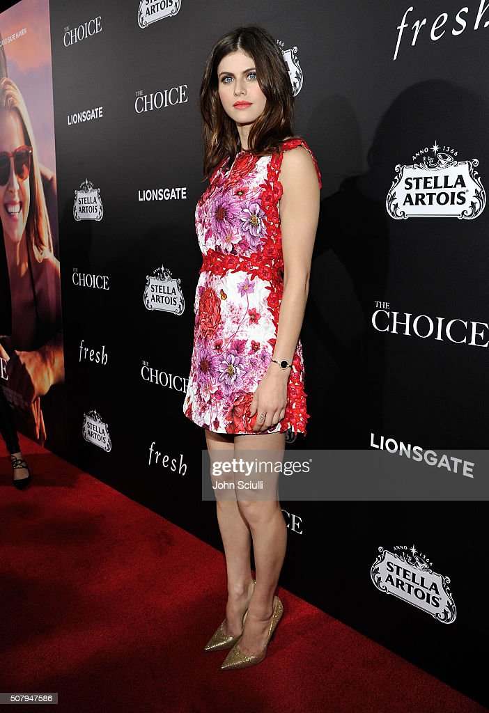 Actress Alexandra Daddario attends the premiere of Lionsgate's 'The Choice' at ArcLight Cinemas on February 1, 2016 in Hollywood, California.