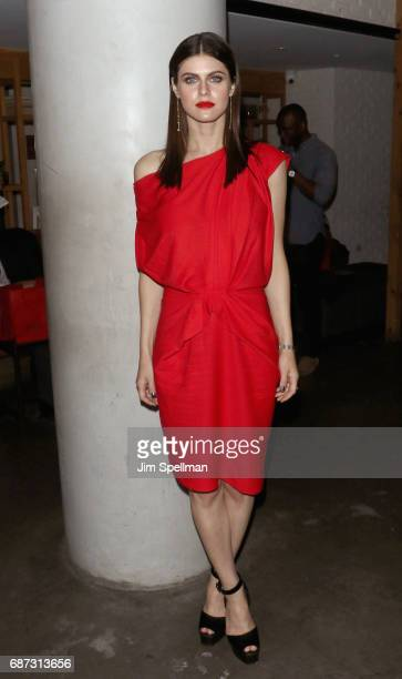 Actress Alexandra Daddario attends the screening after party for 'Baywatch' hosted by The Cinema Society at Mr Purple on May 22 2017 in New York City