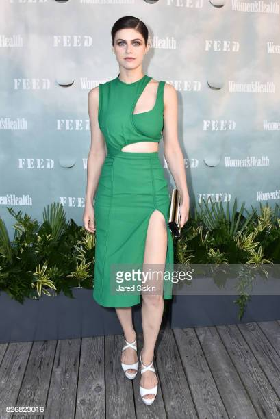 Actress Alexandra Daddario attends Women's Health and FEED's 6th Annual Party Under the Stars at Bridgehampton Tennis and Surf Club on August 5 2017...