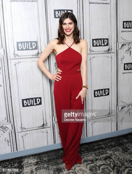 Actress Alexandra Daddario visits Build Series to discuss Netflix film 'When We First Met' at Build Studio on January 29 2018 in New York City