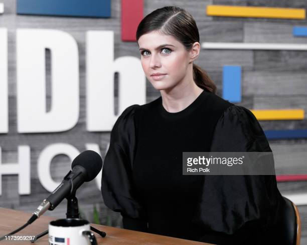 Actress Alexandra Daddario visit's 'The IMDb Show' LIVE on Twitch on September 11 2019 in Studio City California This episode of 'The IMDb Show'...