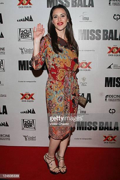 Actress Alexandra de la Mora attends the Miss Bala Mexico City premiere at Teatro de La Ciudad on September 5 2011 in Mexico City Mexico