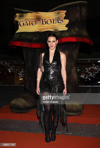 Actress Alexandra de la Mora walks the red carpet for the Puss in Boots Mexico City premiere at the Cinemex Antara Polanco on November 15 2011 in...