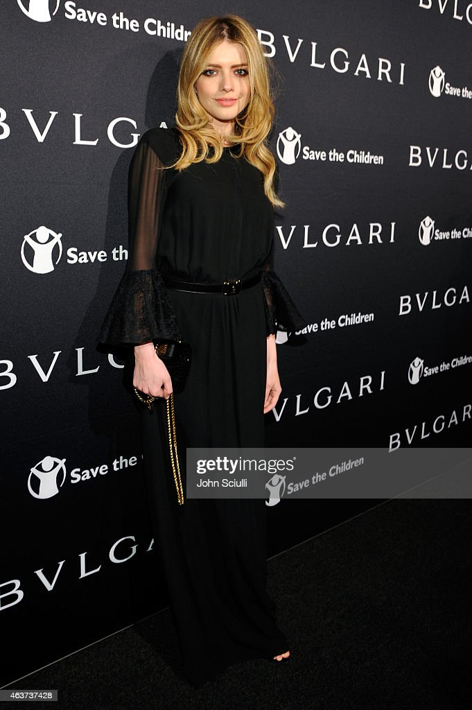Actress Alexandra Dinu attends BVLGARI and Save The Children STOP. THINK. GIVE. Pre-Oscar Event at Spago on February 17, 2015 in Beverly Hills, California.