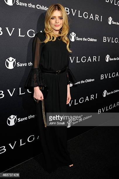 Actress Alexandra Dinu attends BVLGARI and Save The Children STOP THINK GIVE PreOscar Event at Spago on February 17 2015 in Beverly Hills California