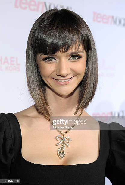 Actress Alexandra Ella arrives at The 8th Annual Teen Vogue Young Hollywood Party at Paramount Studios on October 1 2010 in Los Angeles California