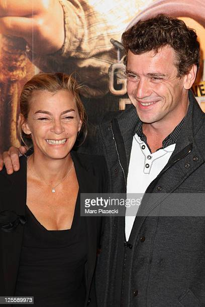 Actress Alexandra Gonin and Raphael Bacquet attend the 'La nouvelle guerre des boutons' premiere at Cinema Gaumont Opera on September 18 2011 in...