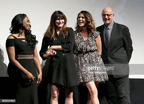 Actress Alexandra Grey Actress Kathryn Hahn Actress Amy Landecker and Actor Jeffrey Tambor attend the Transparent Season Three World Premeire At The...