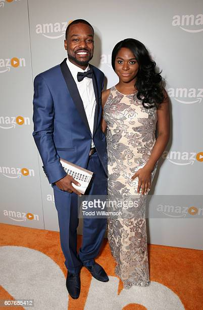 Actress Alexandra Grey and guest attend Amazon's Emmy Celebration at Sunset Tower Hotel West Hollywood on September 18 2016 in West Hollywood...