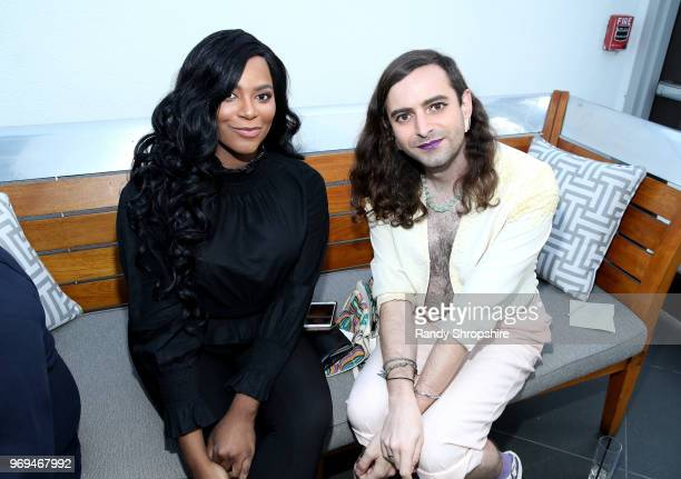 Actress Alexandra Grey and Jacob Tobia attend the Lambda Legal 2018 West Coast Liberty Awards at the SLS Hotel on June 7 2018 in Beverly Hills...