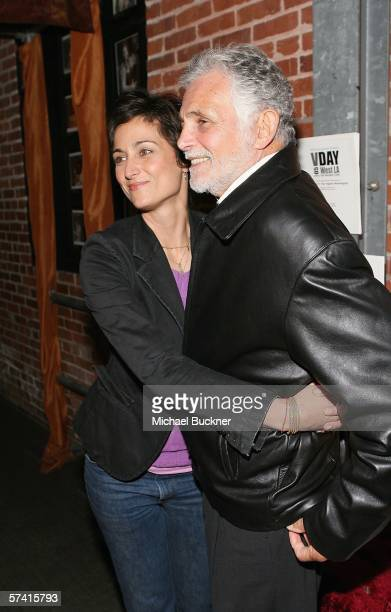 Actress Alexandra Hedison and father actor David Hedison attend the VDAY West LA 2006 cocktail reception at the Ivy Substation on April 24 2006 in...