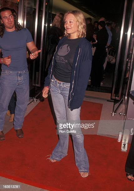 Actress Alexandra Holden attends the A/X Armani Exchange TenYear Anniverary Party on August 23 2001 at A/X Armani Exchange 1322 Third Street...