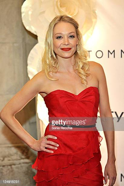Actress Alexandra Holden attends the HFPA and InStyle 2011 Toronto International Film Festival Party at Windsor Arms Hotel on September 13 2011 in...