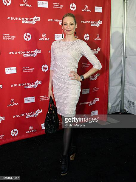 Actress Alexandra Holden attends the 'In a World' premiere at the Library Center Theater during the 2013 Sundance Film Festival on January 20 2013 in...