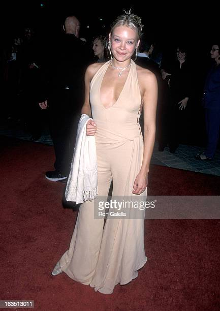 Actress Alexandra Holden attends the 'Lucky Numbers' Hollywood Premiere on October 24 2000 at Paramount Pictures Studios in Hollywood California