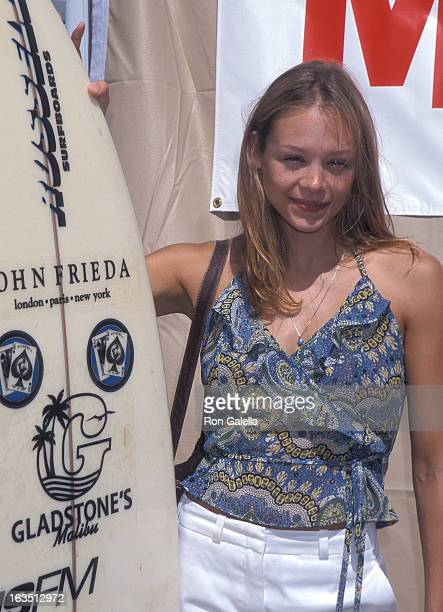 Actress Alexandra Holden attends the Teen Movieline's 'Beauty on the Beach' Party on July 6 2000 at Malibu Beach in Malibu California