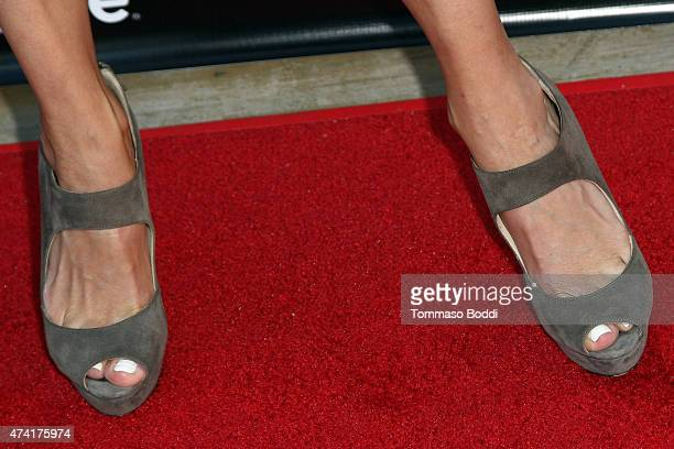 Actress Alexandra Holden shoe detail attends the Lifetime and Us Weekly cocktail party celebrating series premiere of 'Unreal' held at SIXTY Beverly...