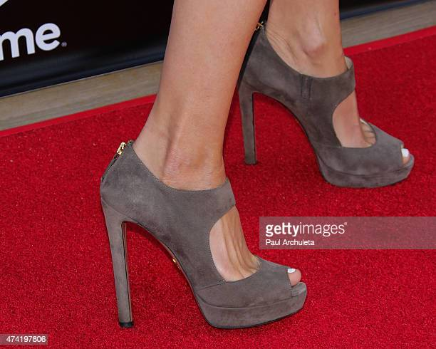 Actress Alexandra Holden Shoe Detail attends the 'Unreal' premiere party at SIXTY Beverly Hills on May 20 2015 in Beverly Hills California