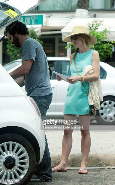 Actress Alexandra Jimenez and actor Luis Rallo are seen on July 3 2012 in Mallorca Spain