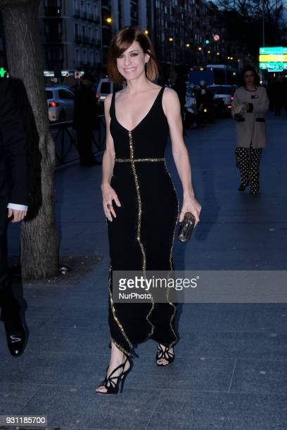 Actress Alexandra Jimenez arrives for the 27th Actors and Actresses Union Awards at the Circo Price Theater in Madrid Spain 12 March 2018