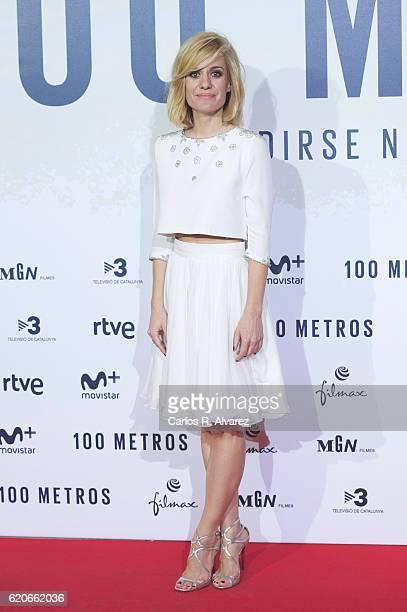 Actress Alexandra Jimenez attends '100 Metros' premiere at Capitol cinema on November 2 2016 in Madrid Spain