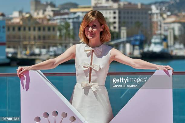 Actress Alexandra Jimenez attends 'Las Distancias' photocall during the 21th Malaga Film Festival on April 17 2018 in Malaga Spain
