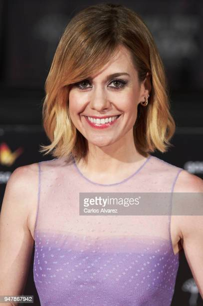 Actress Alexandra Jimenez attends 'Las Distancias' premiere during the 21th Malaga Film Festival at the Cervantes Theater on April 17 2018 in Malaga...