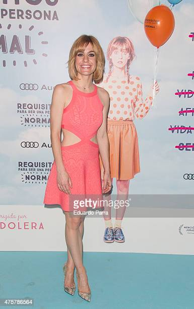 Actress Alexandra Jimenez attends 'Requisitos para ser una persona normal' premiere at Palafox cinema on June 3 2015 in Madrid Spain